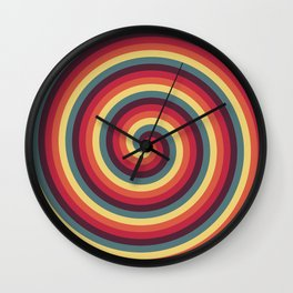 Vibrant Helicoids Large Wall Clock