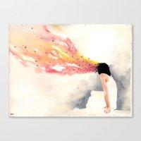 dreamer Canvas Prints featuring dreamer by artbroken