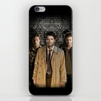 supernatural iPhone & iPod Skins featuring Supernatural by SB Art Productions