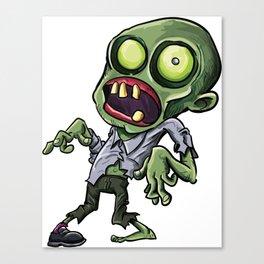 Twisted cartoon zombie Canvas Print