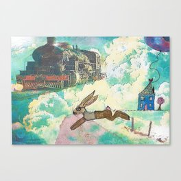 Run Bertie Canvas Print
