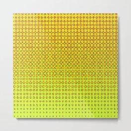 CONTEMPORARY MODERN YELLOW-ORANGE OPTIC Metal Print