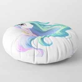 Beautiful unicorn drawing Floor Pillow