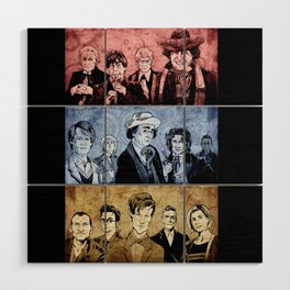 Doctor Who - Three Colours Who Wood Wall Art