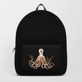 Octopus sea nautical beach coastal Backpack