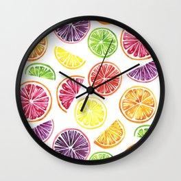 Citrus Wheels Wall Clock