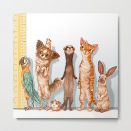 Pets Lineup Metal Print