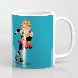 Roller Derby girl (light skin) Coffee Mug