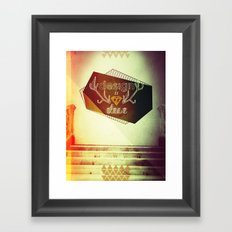 design is chic Framed Art Print