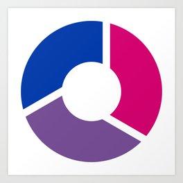 Bisexual Pride Flag Circle Art Print