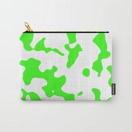 Large Spots - White and Neon Green Carry-All Pouch