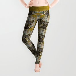 native mountain lion gold Leggings