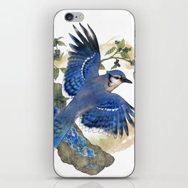 Blue Jay and Hauyne Crystals iPhone Skin