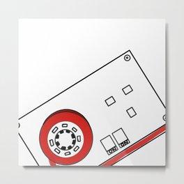 Fused Cassette Metal Print