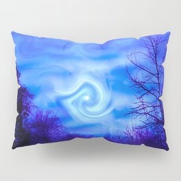 Blue night Moon Pillow Sham