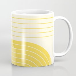 Two Tone Line Curvature V Coffee Mug