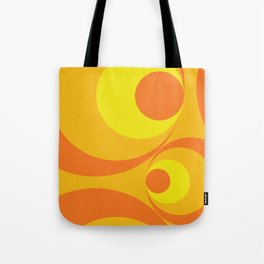 Crazy Orange Circles Tote Bag