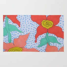 Flowers in the Rain Rug