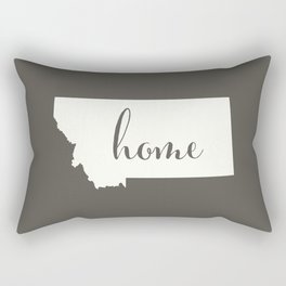 Montana is Home - White on Charcoal Rectangular Pillow