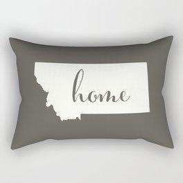 Montana is Home - White on Charcoal Rectangular Pillow