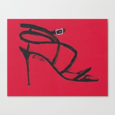 Strappy Heel Fashion Illustration Canvas Print