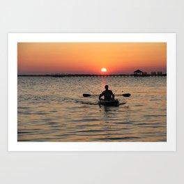 Amazing Sunset II. Sunset series Art Print