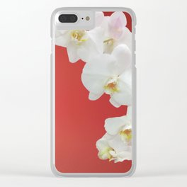 Watermelon Orchid Clear iPhone Case