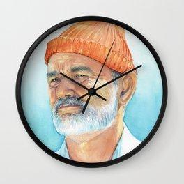Bill Murray as Steve Zissou Portrait Art Wall Clock