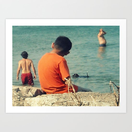 Summer Swim ~ lake Art Print