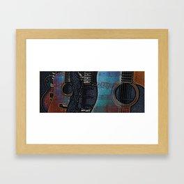 GUITAR BLUES Framed Art Print