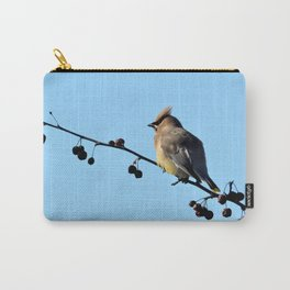 Waxwing on a Winter's Day Carry-All Pouch