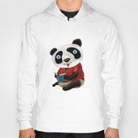 panda Hoodies featuring Panda by gunberk