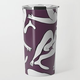 Picasso Pattern - Purple Background Travel Mug