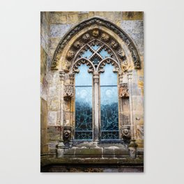Stained glass window of Rosslyn Chapel outside Edinburgh, Scotland Canvas Print