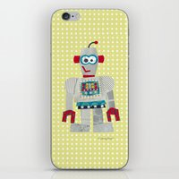 50s iPhone & iPod Skins featuring strumm 50s robot  by blossyfloss