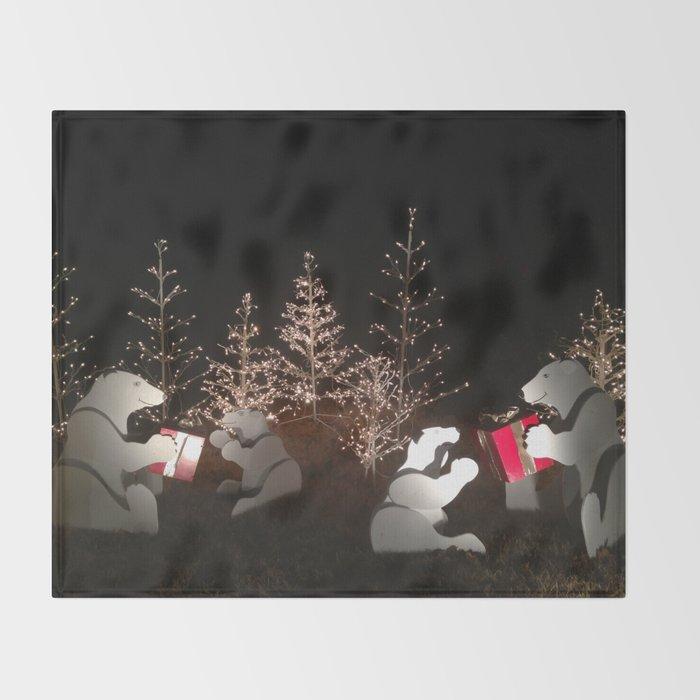 Polar Bear Christmas Throw Blanket