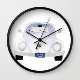 Moxie VW Bug Watercolor Series Wall Clock