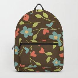 Elegant drawn floral pattern Backpack
