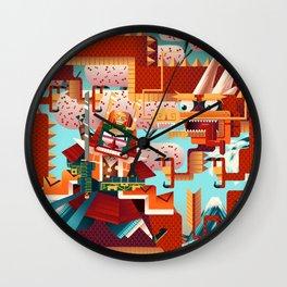 Battle of the Fuji River Wall Clock