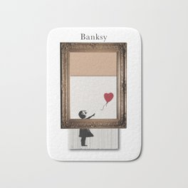 Girl With the Red Balloon Banksy Shredded Bath Mat