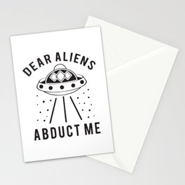 Dear Aliens Abduct Me Stationery Cards