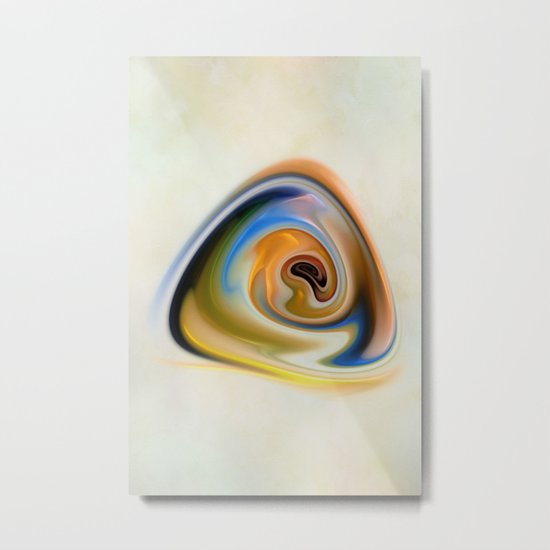 Triangle Spiral Metal Print
