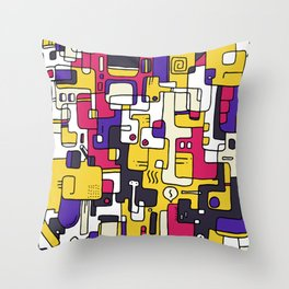 Stealthy Qcombrrs Throw Pillow