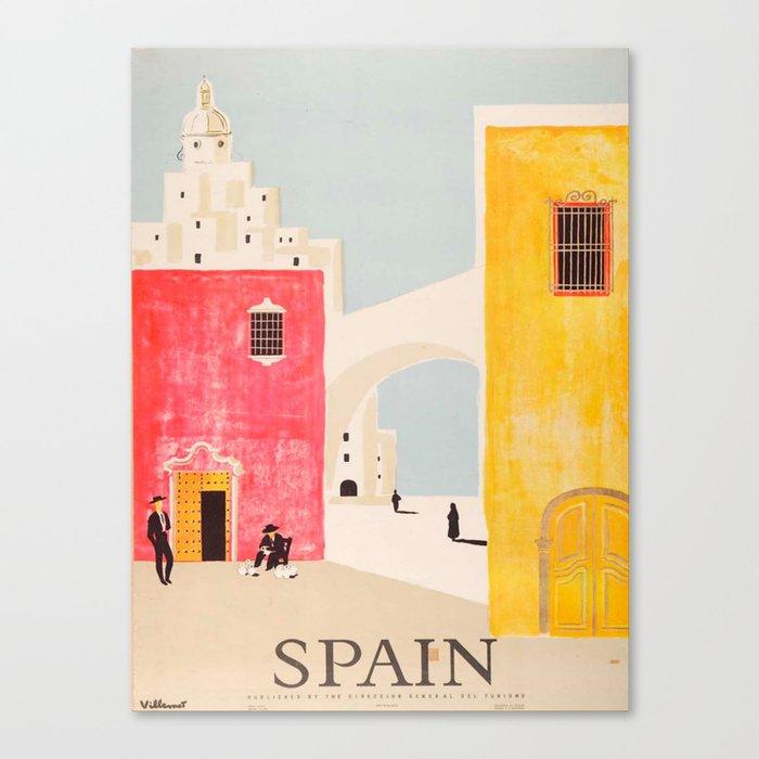Spain Vintage Travel Poster Mid Century Minimalist Art Leinwanddruck
