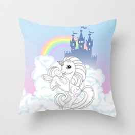 g2 my little pony Silver Swirl at royal castle Throw Pillow