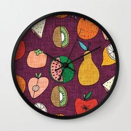 Mod Fruit Purple Wall Clock