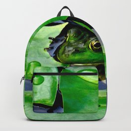 Peek  A Boo frog Backpack