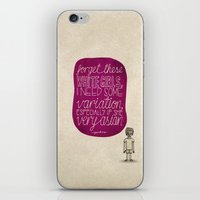childish gambino iPhone & iPod Skins featuring Childish Gambino; What Rappers Say Series 4/8 by Jaron Lionel