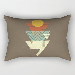 Sun. Sea. Sand. Shark. Rectangular Pillow