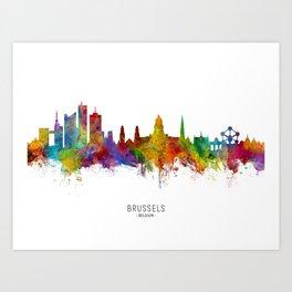 Brussels Belgium Skyline Art Print